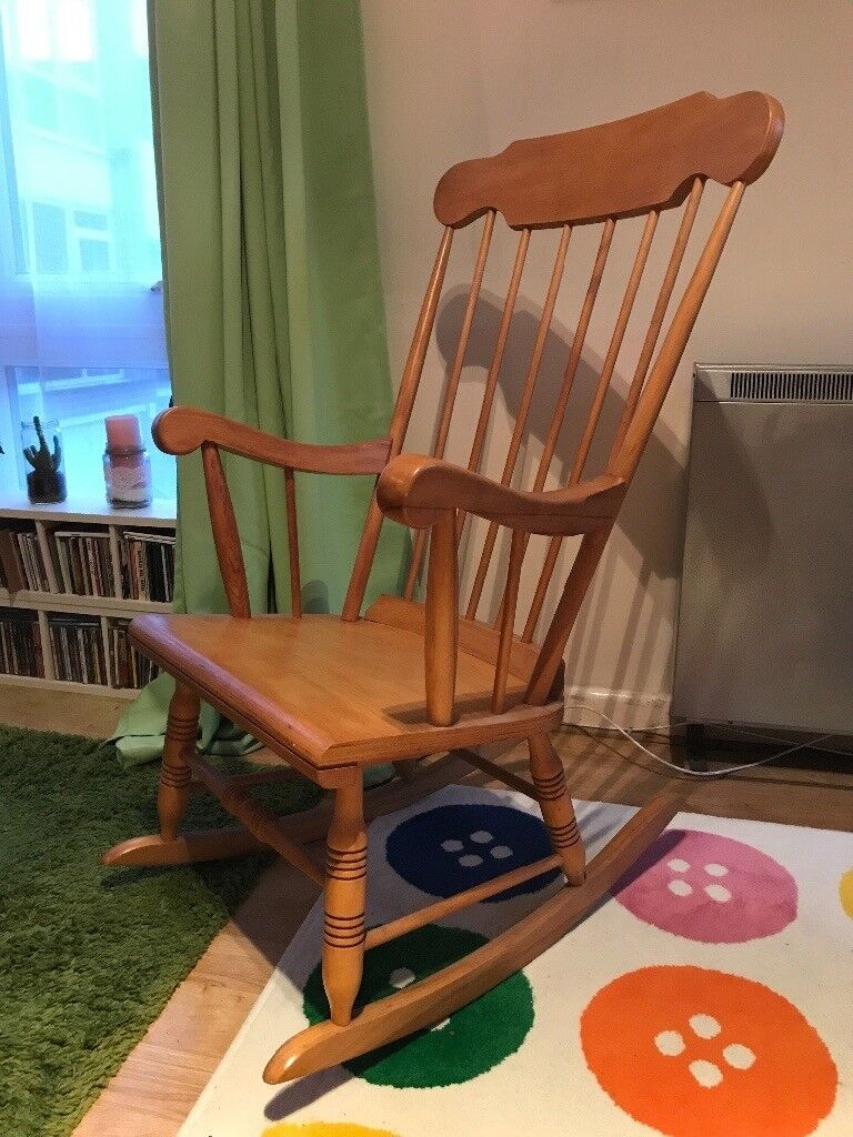 Cool Vintage Pine Rocking Chair For Sale In Fallowfield Manchester Gumtree Machost Co Dining Chair Design Ideas Machostcouk