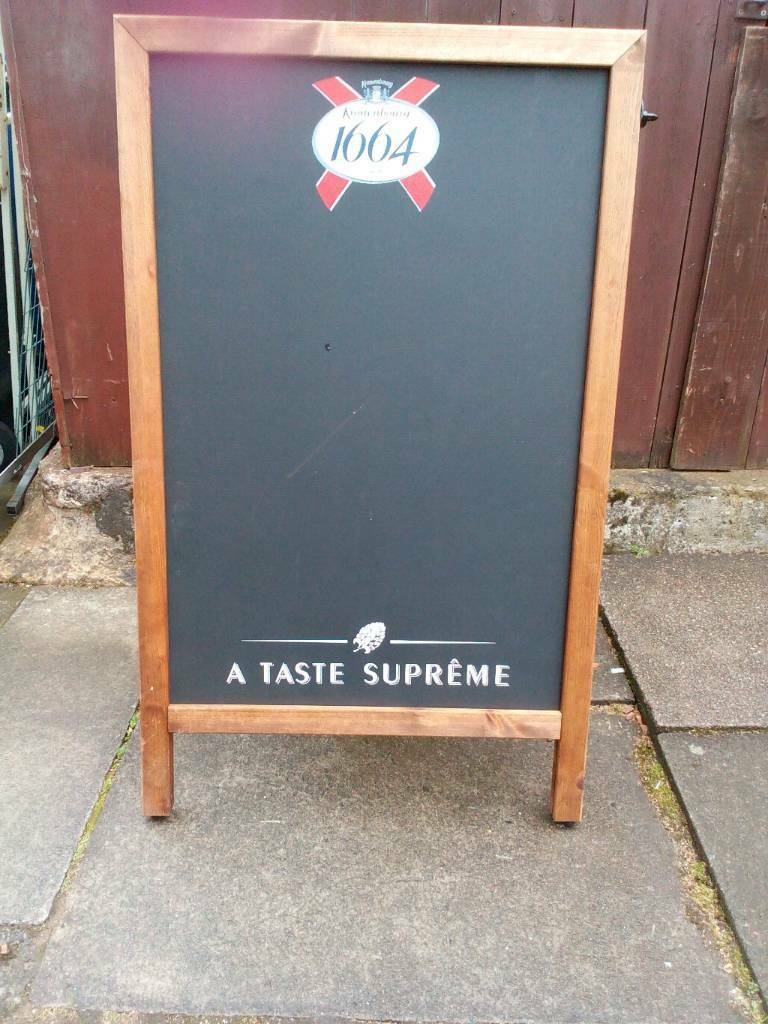 Advertising Board Freestanding Heavy Wooden Frame With Double Sided Black Boards In Hamilton South Lanarkshire Gumtree