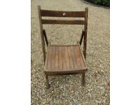 SINGLE VINTAGE FOLDING WOODEN CHAIR. More available, also church pews , benches & pine tables.