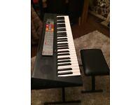 Yamaha keyboard + stand + stool