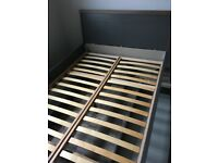 Excellent, modern double bed frame with two driwers
