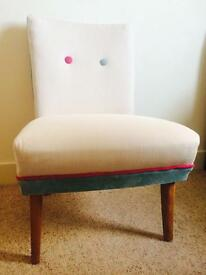 Upcycled vintage nursing chair