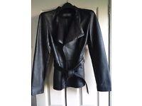Black leather jacket - size 10 - NEVER WORN