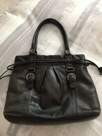 Black real leather bag from Clarks - £7