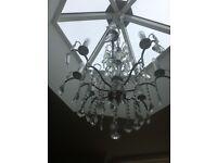 Modern chandeliers silver/black