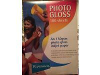 Photo gloss paper