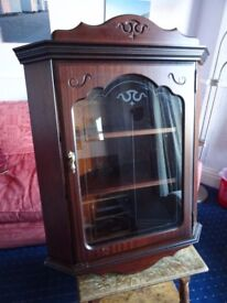 Rossmore Irish Reproduction Wall Cabinet Good Condition Some Scratches / Paint 1960's