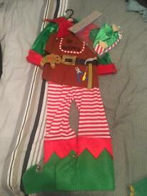 Christmas elf outfit size 5-6 years