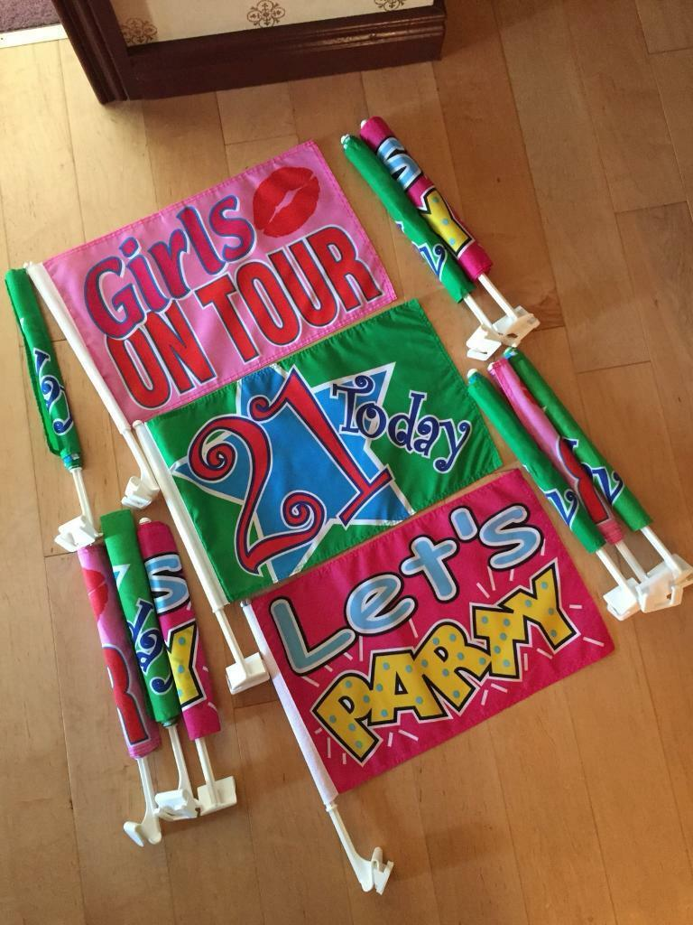 Fabric Party Flags - (x 12)