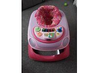 Chicco baby walker (pink)