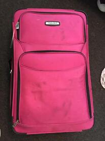 XL pink suitcase