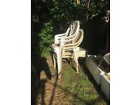 FREE X4 plastic garden chairs