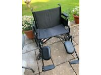 Extra Wide fold up Wheelchair