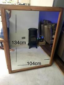 Two extremely large vintage mirrors