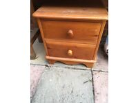 2 x Solid Wood Bedside Tables