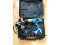 18v cordless drill. With charger. Needs batteries