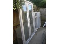 1.500m wide UPVC French Door and 7 windows For Sale