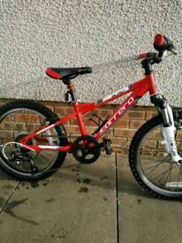 Carrera Blast Boys Mountain Bike 20 Wheel Alloy Frame 6 Speed Ref 1337b