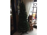 """Good quality 6ft slim, easily assembled Christmas Tree, 30"""" across at widest part : £10"""
