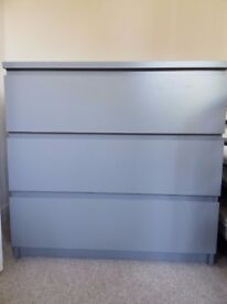 Chest of 3 drawers IKEA MALM. Dark Grey