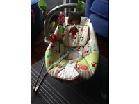 Fisher Price Woodland Creatures Vibrating baby bouncer