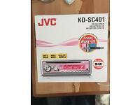 JVC car CD player (pink face)