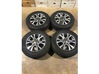 """Set of 18"""" genuine Ford alloy wheels and tyres Ford Ranger Mitsubishi L200 Shogun"""