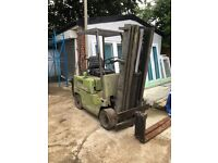 GAS POWERED CLARK FORKLIFT FOR SALE (VERY HIGH LIFT)
