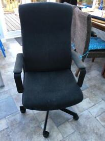 IKEA Malkolm dark grey fabric office chair