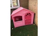 large pink play house