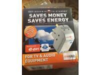 Oneclick Intelliplug TVA106 Remote Powerdown Energy Saver for TV & AUDIO Equipment. Unused.