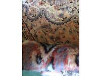 Hand Made Rug silk&wool 197cm x 126cm