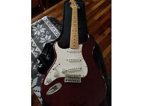 Fender Stratocaster Mexican in wine purple