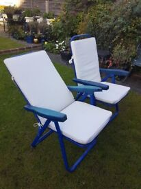 2 Padded Garden Chairs - DELIVERY AVAILABLE