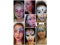 Luna Sparkles Art! Find us on fb.... Face painting glitter tattoos festival glitter