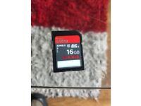 16Gig SDHC High speed Memory card