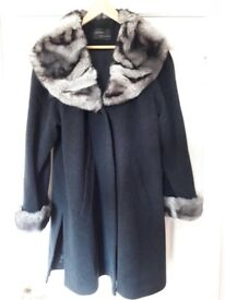 Charcoal wool and cashmere coat