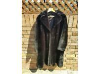 Womens brown faux fur coat