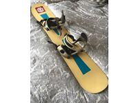 Ladies/kids Arabis snowboard and bindings