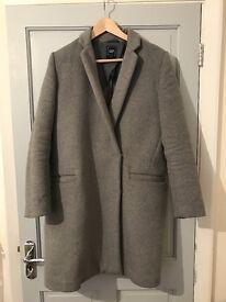 GAP ladies coat grey size M USED