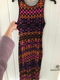 Miss selfridge Aztec midi dress size 8