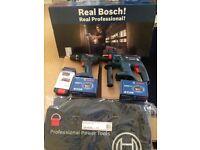 NEW Bosch Twin Pk SDS & Combi Drill 18v - Dewalt Makita Panasonic Festool GBH18v & GSB18v 2 x 3Ah