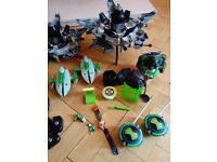 Large bundle of Ben 10 toys: figures, vehicles plus other bits and bobs
