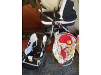 Everything is in very good condition, tires are replaced. Prams is very convenient and not serious