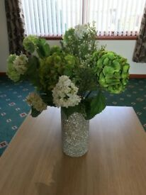 Beautiful Artifical Flower Display with Vase