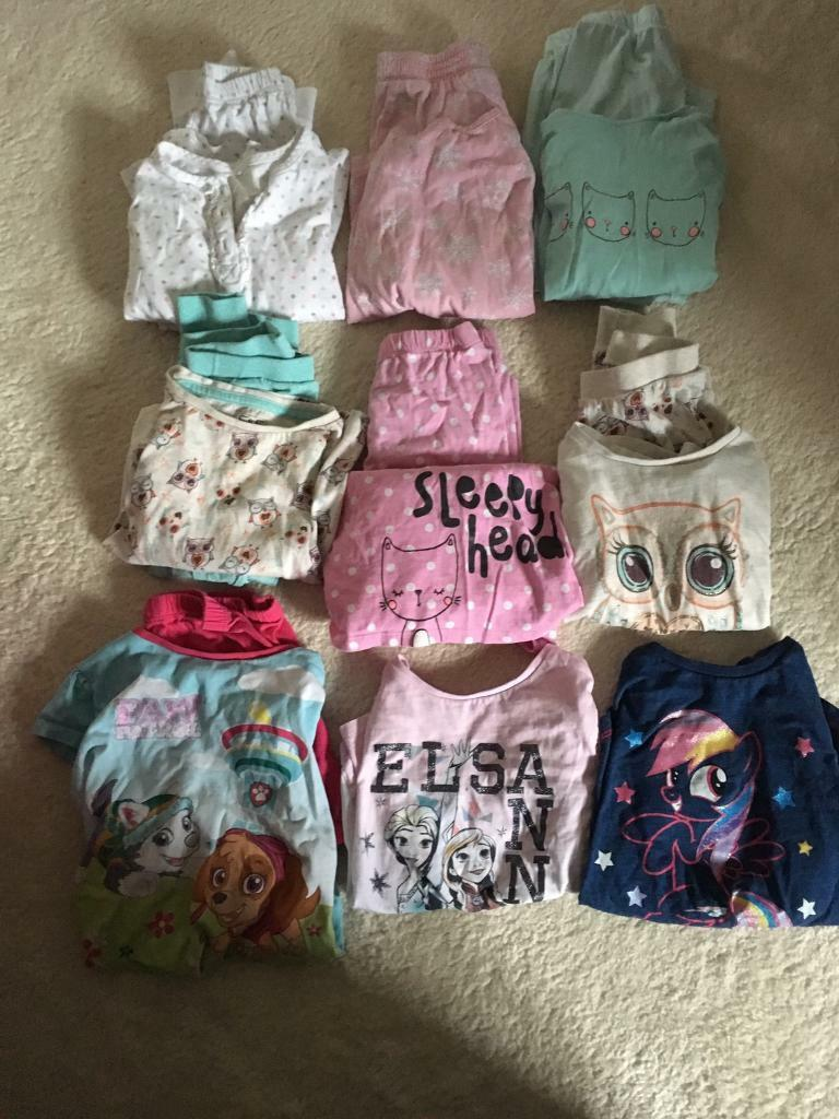 Bundle Of girl's pyjamas size 3-4 years