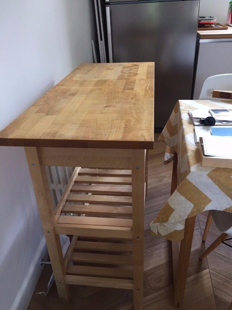 Ikea FÖrhÖja Kitchen Trolley Birch