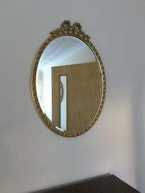 Gilt Frame Oval Mirror