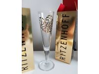 2 Unused Ritzenhoff Champagne Glasses with boxes & napkin. Wedding Hearts Gifts Philip Argent £20