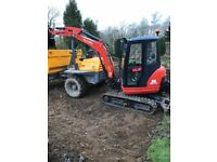 Manned Mini Digger Hire